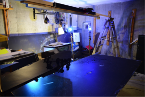 A look at Dowd's home animation set-up. Photo: Justin Dowd